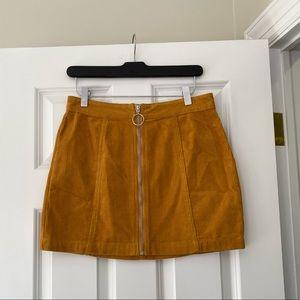 NWOT Forever21 Mustard Corduroy Skirt